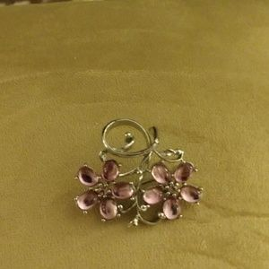 Pink Flowered Broach